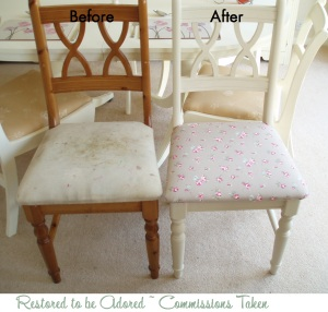 Commissions, shabby chic, vintage, furniture, restore furniture, re upholser, hand painted, clarke and clarke