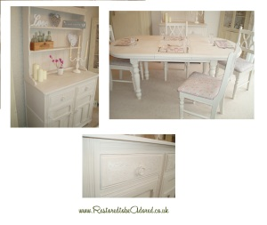 Oak dresser, kitchen table, dining table, shabby chic, hand painted, kitchen furniture, kent, autentico cocos,