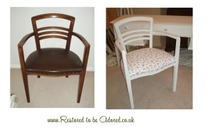 Vintage Chair, Cath Kidston Roses and Birds Fabric, shabby chic furniture, white furniture