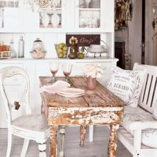 shabby chic table highly destressed