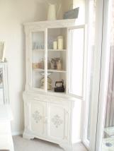 shabby chic stencil, shabby chic furniture, corner unit, oak corner unit,