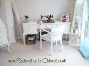Dressing Table, shabby chic dressign table, white dressing table, craft table, craft station, craft table, sewing table